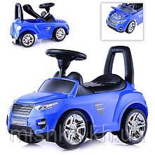Машина-каталка Master Play  (синяя), открывается капот, сиденье, светятся фары, муз.руль, в коробке