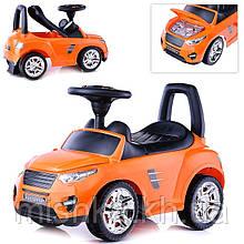 Машина-каталка Master Play  (оранжевый), открывается капот, сиденье, без муз., ПВХ пакет