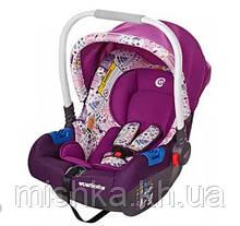 Автокресло детское 0+ ElCamino бебикокон фиолетовое