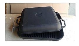 Сковорода гриль з кришкою чавунна сковородою квадратна Сітон 28 см Г280квч