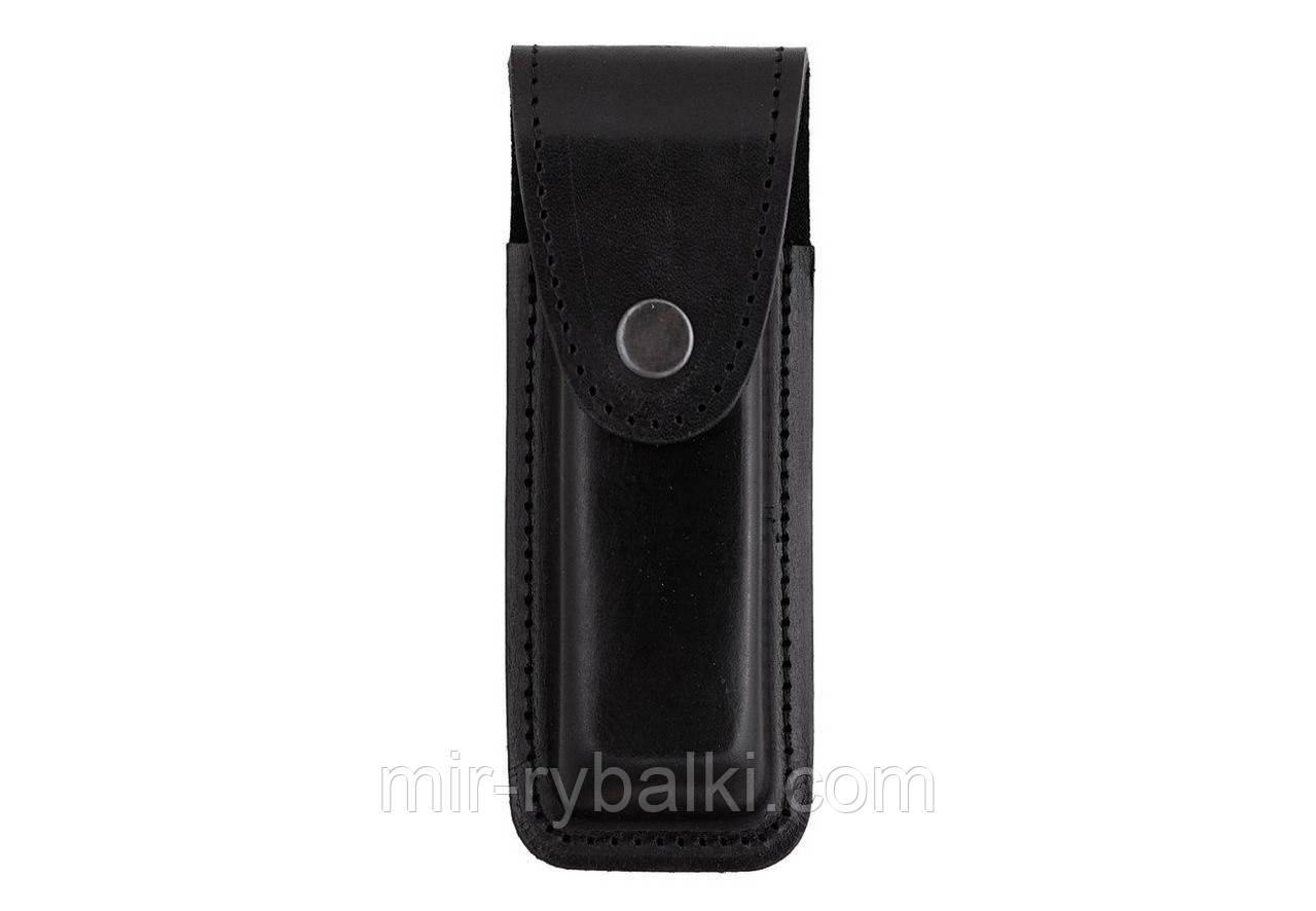 Подсумок, чехол для магазина Форт-17 формованный кнопка -А (кожа, чёрный)