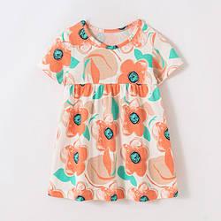 Платье для девочки Оранжевые цветы Little Maven (2 года)