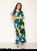 Женские летние платья новинки размеры 54-58