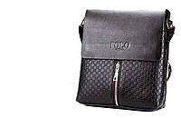 Кожаная сумка Polo Videng через плечо с декором