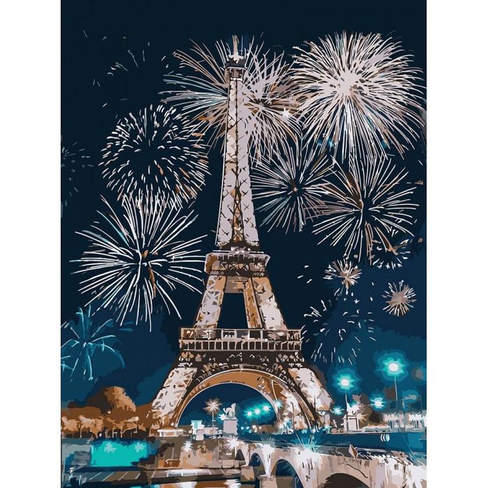 "Картина по номерам. ""Огни Парижа"" 30*40см KHO3572"
