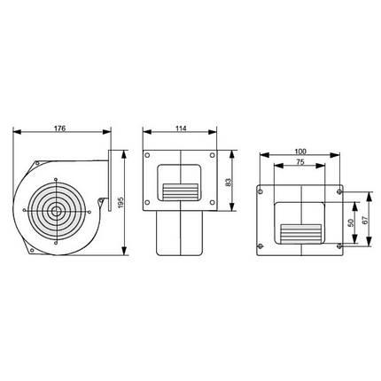 Вентилятор котла KG Elektronik Арт. DP-120 від 35 до 50 кВт, фото 2