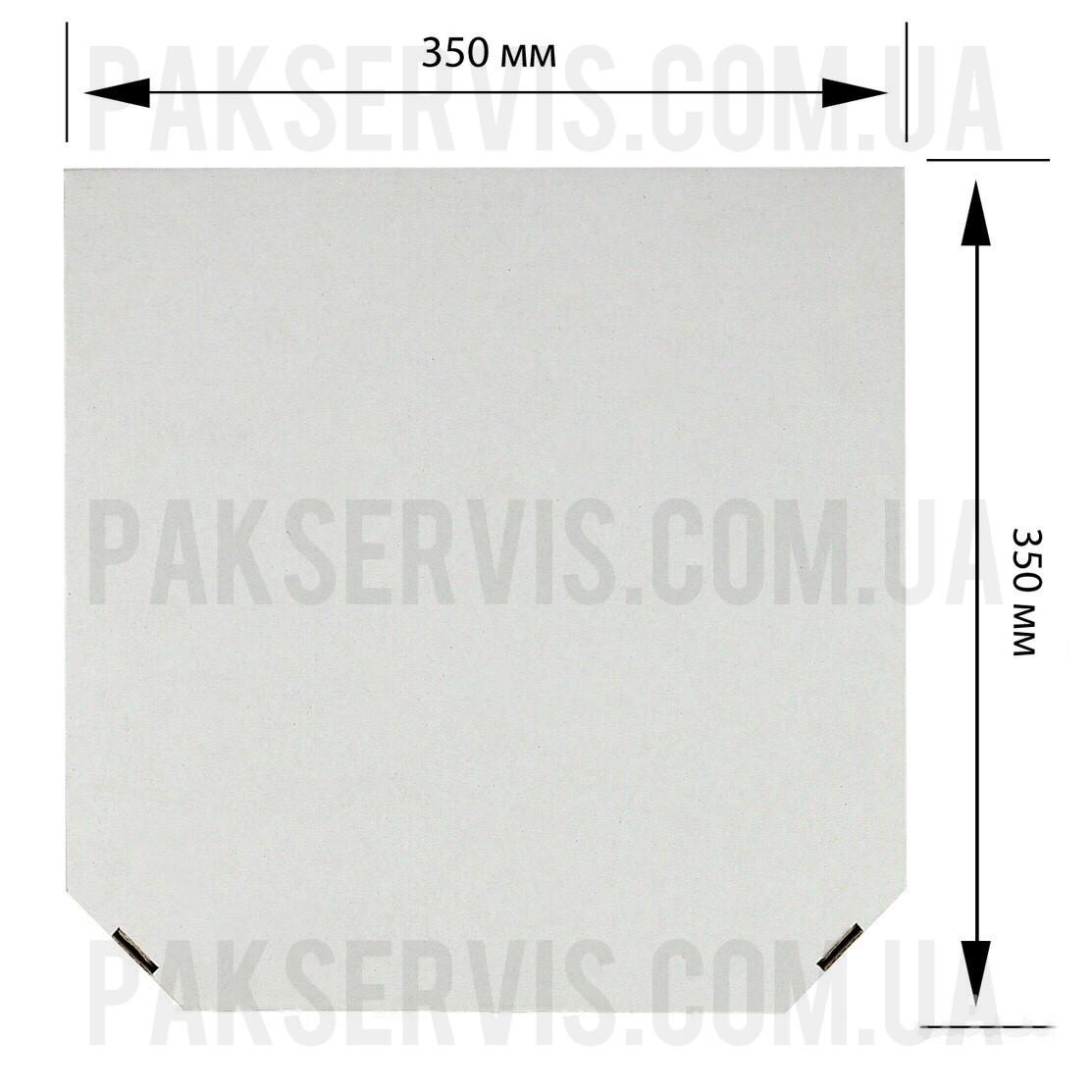 Коробка для піци 350х350х40 Біла 1/50