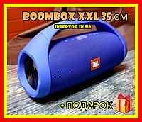 Портативна Bluetooth колонка JBL Boombox Big XXXL 35 см Акустика ЖБЛ Бумбокс велика з ручкою Синій