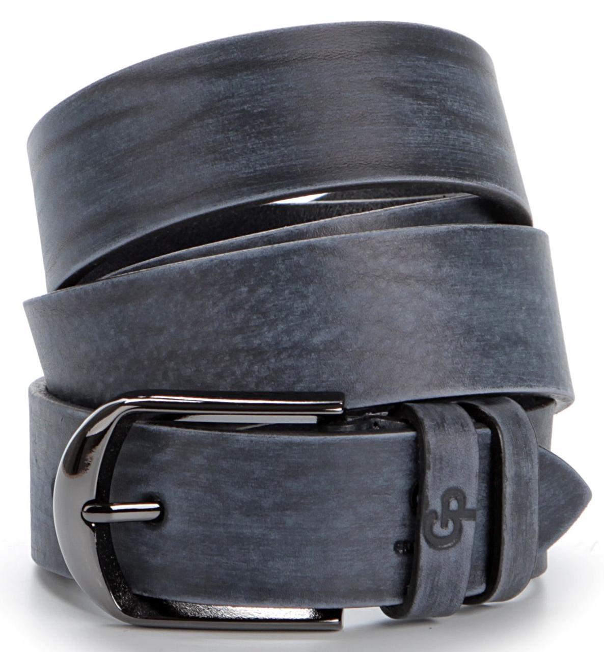 Надежный ремень из натуральной кожи GRANDE PELLE 00768 Синий