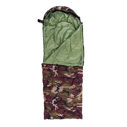 Спальник 250гр/м2, камуфляж , одеяло, (180+30)*75см, фото 2