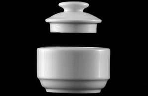 Крышка для горчичницы PRA4302 фарфоровая белая Praha, G.Bedenikt