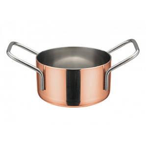 Кастрюля-мини порционная 7,6 см. нержавеющая сталь с медным покрытием Winco