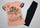 "Летний костюм на девочку ""Бабочка"" 9,10,11,12 лет 100 % хлопок, фото 2"