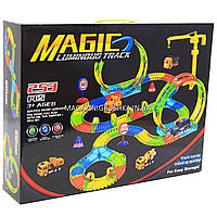 Автотрек Magic Tracks (Мэджик Трек) со светящейся машинкой - 253 детали (YM-816)
