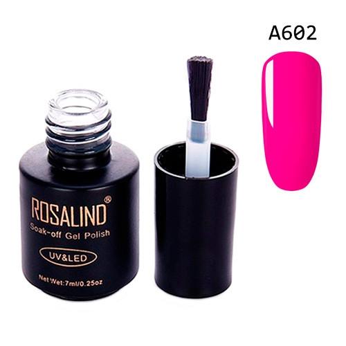 Гель-лак для ногтей маникюра 7мл Rosalind, шеллак, А602 неон маджента 2005-01868
