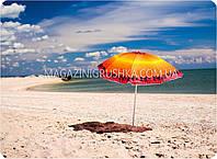 Зонт пляжный (диаметр - 1.8 м) - оранжевый, фото 1