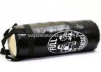 Боксерская груша Чёрная (Искусственная кожа, 46 см) 11222, фото 3