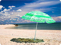 Зонт пляжный (диаметр - 2.4 м) - салатовый, фото 1