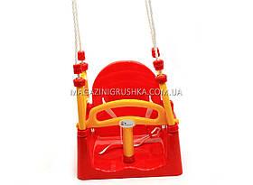 Детские качели для малышей, детей «Doloni» Красный с жёлтым 3 в 1 арт. 0152