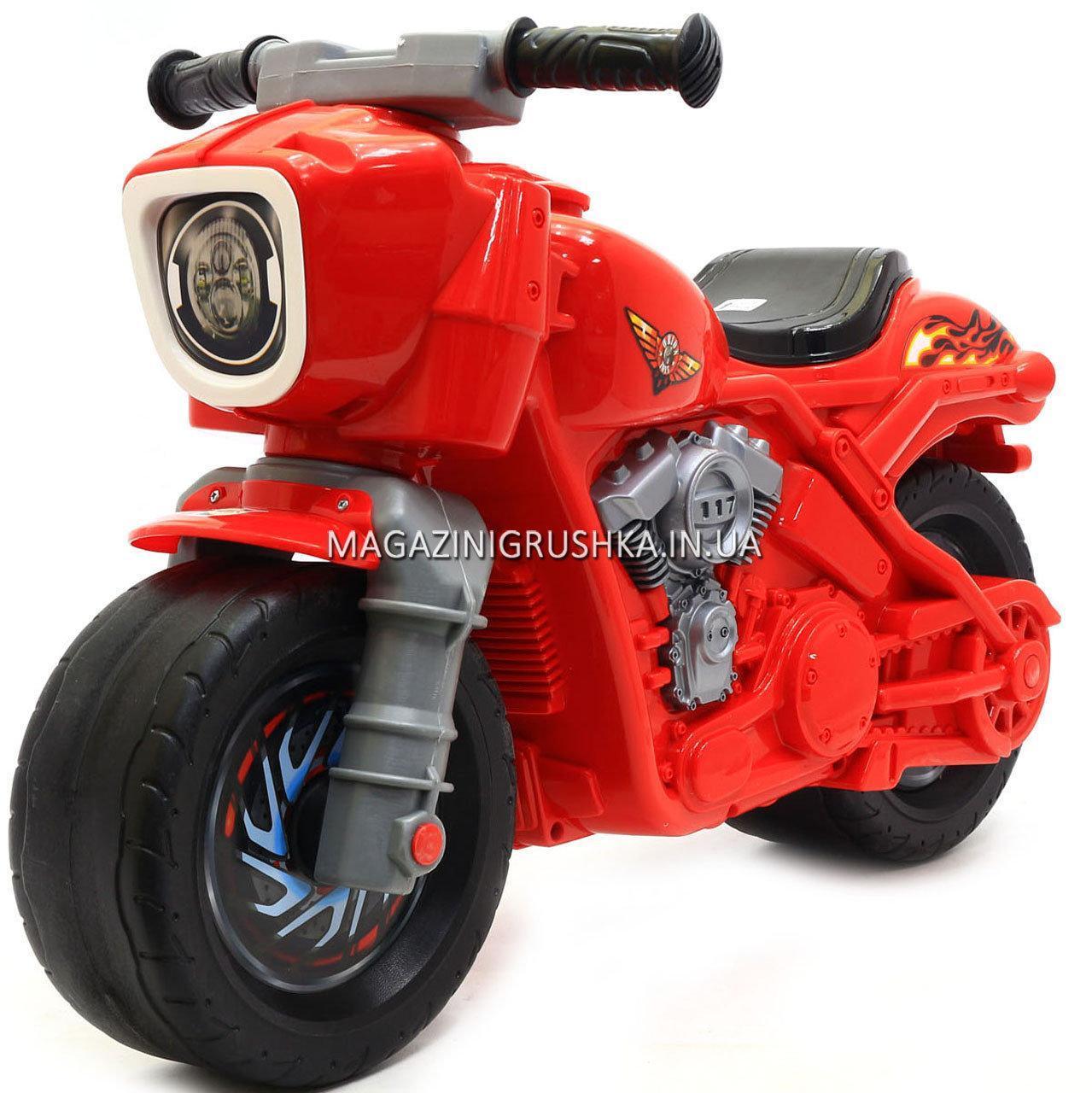 Детский Мотоцикл толокар Орион Красный 504. Популярный транспорт для детей от 2х лет