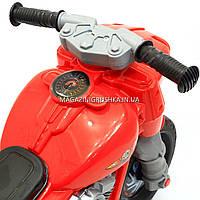 Детский Мотоцикл толокар Орион Красный 504. Популярный транспорт для детей от 2х лет, фото 4