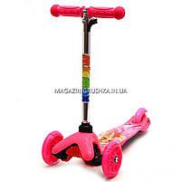 Детский транспорт Самокат с героями мультфильмов 17062 светящиеся колеса - Барби, фото 6