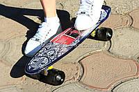 Скейтборд (скейт) Черный с бесшумными колесами MS 0298