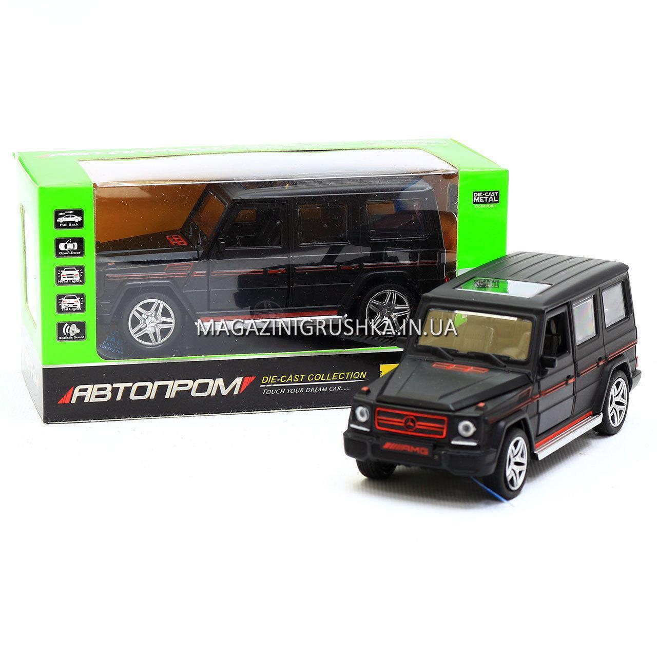 Іграшка машина Автопром Мерседес Бенц (Mercedes-Benz) Матовий чорний .Залізні машинки Гелендваген (Гелик)