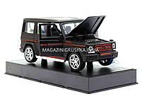 Іграшка машина Автопром Мерседес Бенц (Mercedes-Benz) Матовий чорний .Залізні машинки Гелендваген (Гелик), фото 5