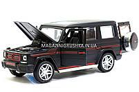 Іграшка машина Автопром Мерседес Бенц (Mercedes-Benz) Матовий чорний .Залізні машинки Гелендваген (Гелик), фото 8