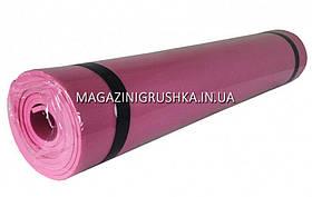 Коврик для йоги и фитнеса Розовый M0380-3