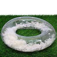 Круг надувной для плавания Белый SR1910 с перьями, диаметр 70 см. Подходит для отдыха на море, в бассейне