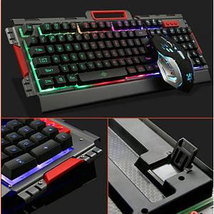 Ігрова дротова клавіатура з мишкою і LED підсвічуванням K33, (Оригінал)