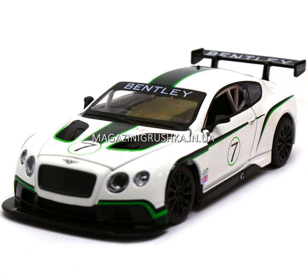 Машинка игровая автопром «Bentley Continental GT3 Concept» (Бентли) Белый 68266A