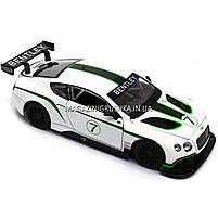 Машинка игровая автопром «Bentley Continental GT3 Concept» (Бентли) Белый 68266A, фото 3