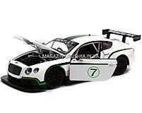 Машинка игровая автопром «Bentley Continental GT3 Concept» (Бентли) Белый 68266A, фото 4