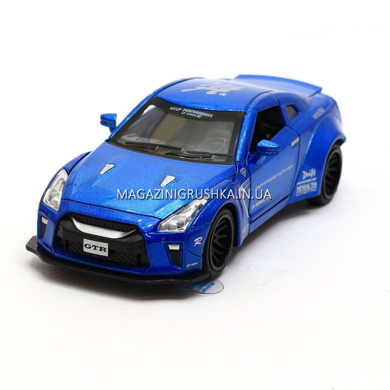 Машинка игровая автопром «Nissan GTR» Синий 7862