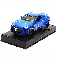 Машинка игровая автопром «Nissan GTR» Синий 7862, фото 3