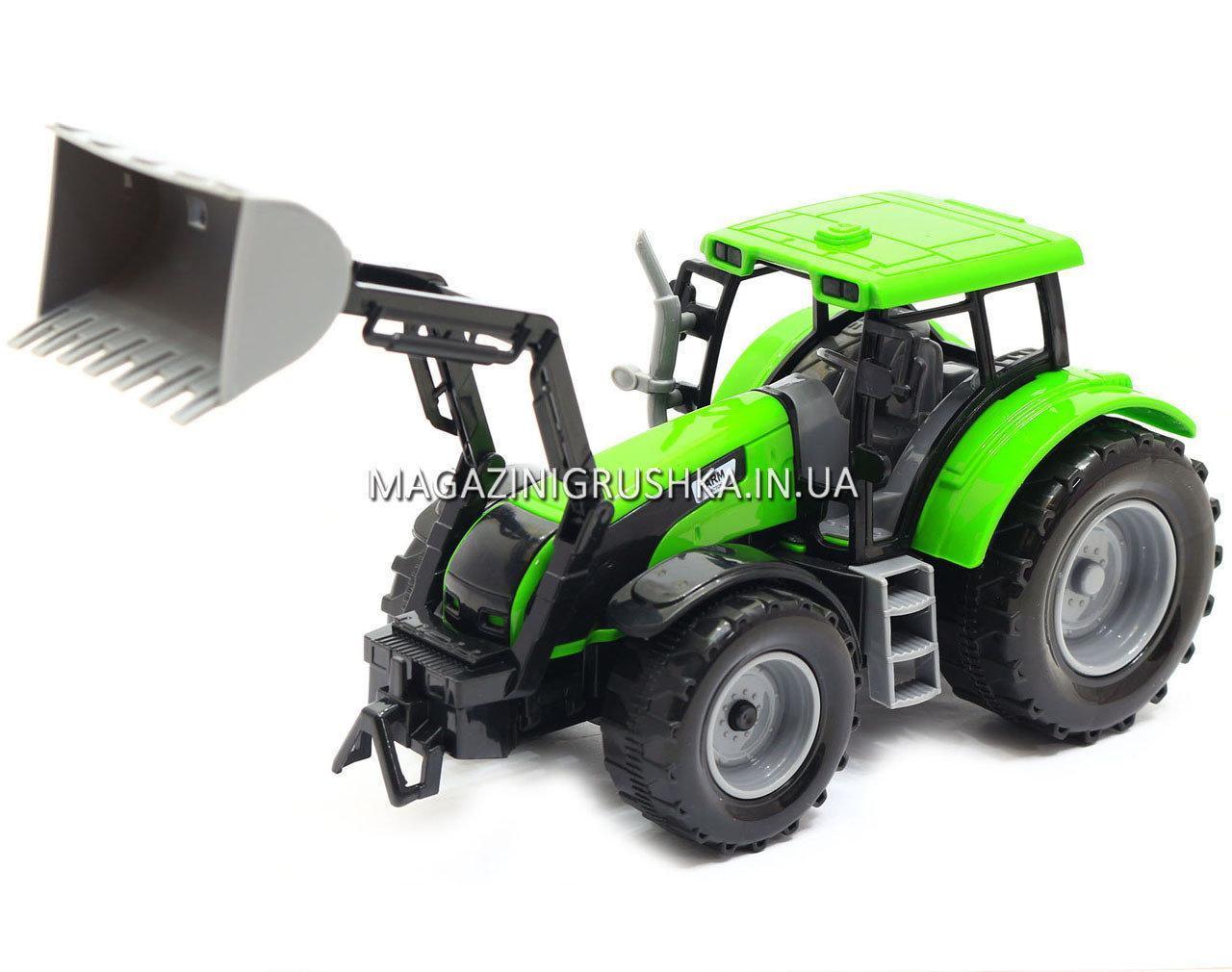 Машинка игровая автопром «Трактор» Зеленый 7682ABCD