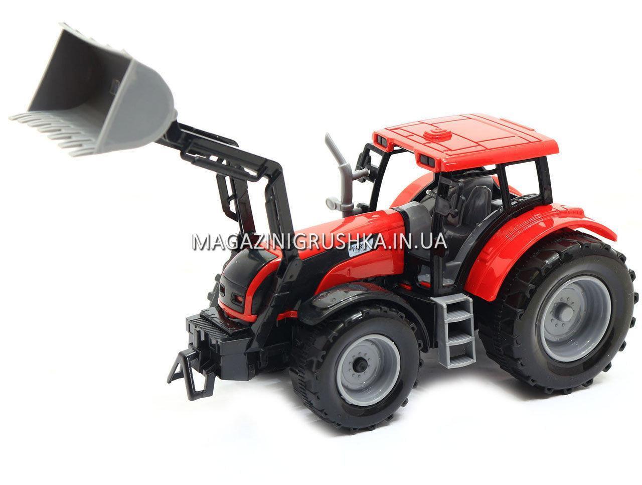 Машинка ігрова автопром «Трактор» Червоний 7682ABCD