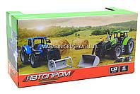 Машинка игровая автопром «Трактор» Синий 7682ABCD, фото 6