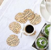 Деревянная основа подставка под чашку, костер