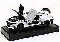 Машинка модель Автопром Chevrolet Самого (Шевроле Камаро) Білий арт.7645, фото 6