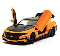 Машинка модель Автопром Chevrolet Сamaro (Шевроле Камаро) Желтый арт.7645, фото 4
