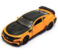 Машинка модель Автопром Chevrolet Сamaro (Шевроле Камаро) Желтый арт.7645, фото 5