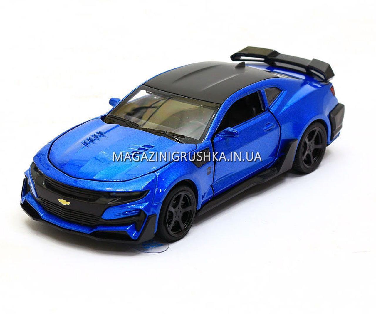 Машинка модель Автопром Chevrolet Сamaro (Шевроле Камаро) Синий арт.7645