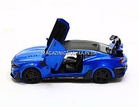 Машинка модель Автопром Chevrolet Сamaro (Шевроле Камаро) Синий арт.7645, фото 3