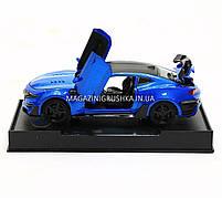 Машинка модель Автопром Chevrolet Сamaro (Шевроле Камаро) Синий арт.7645, фото 7