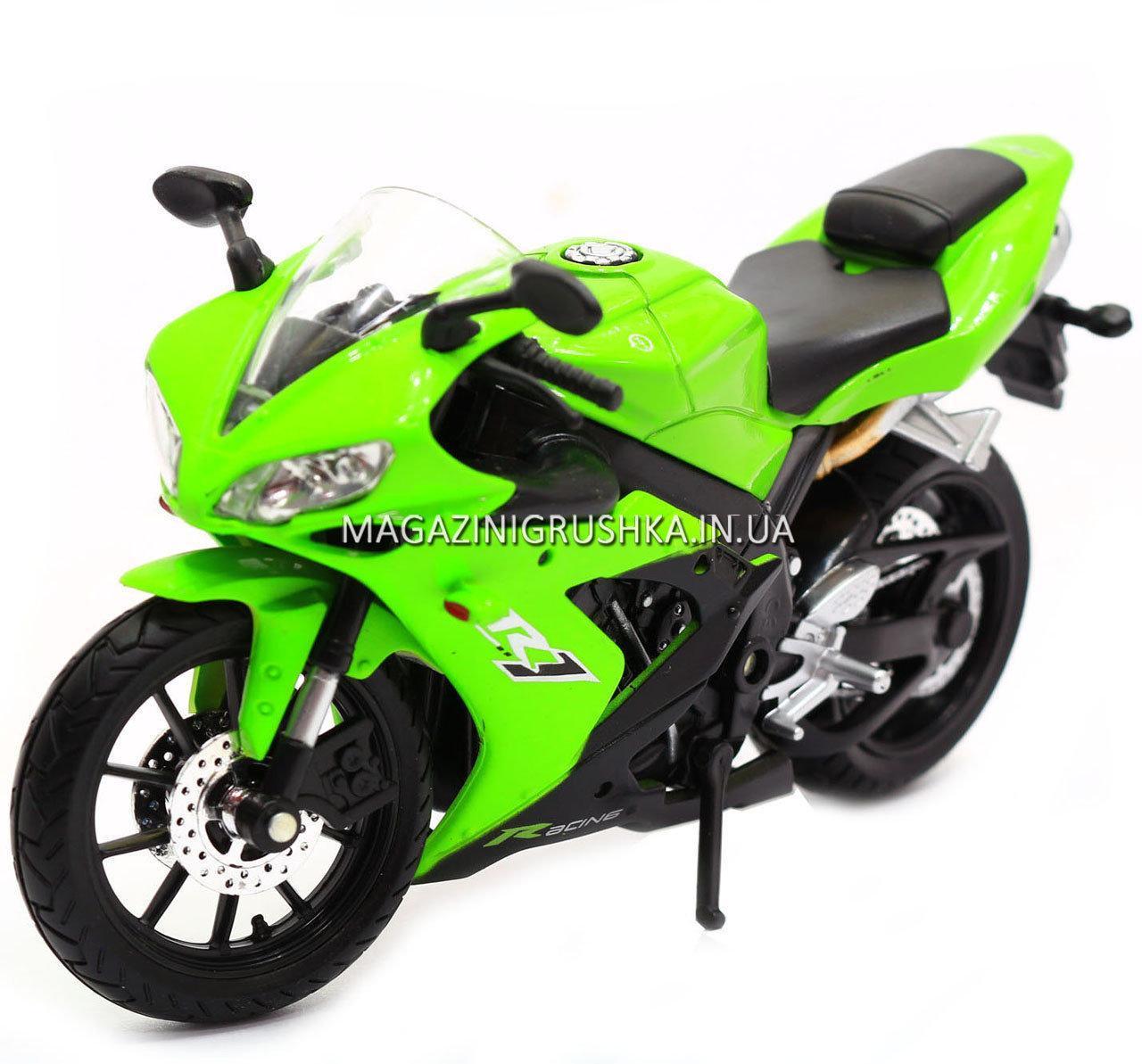Мотоцикл Автопром модель «Yamaha R1» Салатовый 7747