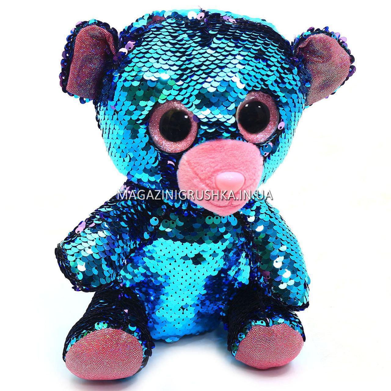 Мягкая игрушка Медвежонок из пайеток-перевертышей Глазастики